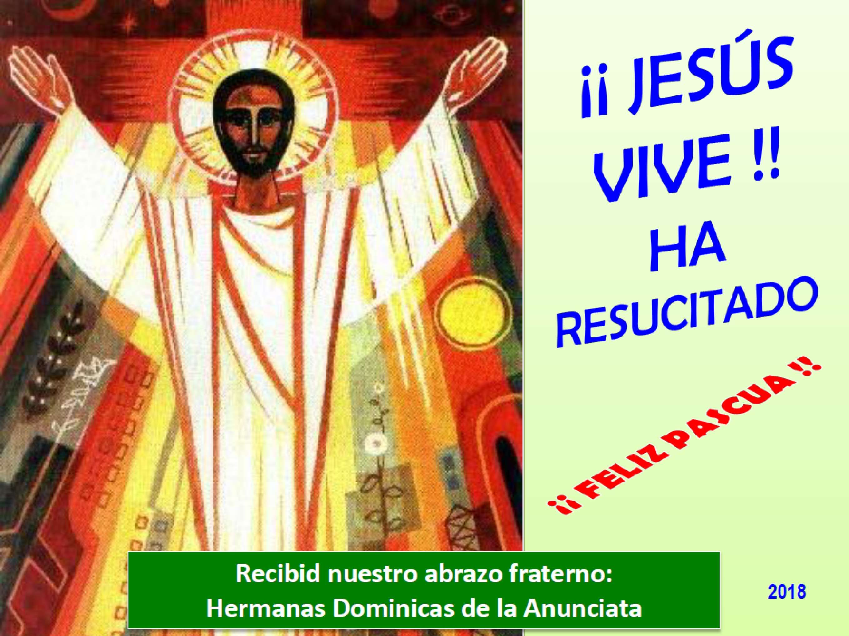 ¡¡FELIZ PASCUA DE RESURRECCIÓN!!