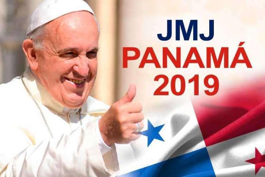 LLEGADA DEL PAPA FRANCISCO A PANAMA PARA LA JMJ 2019