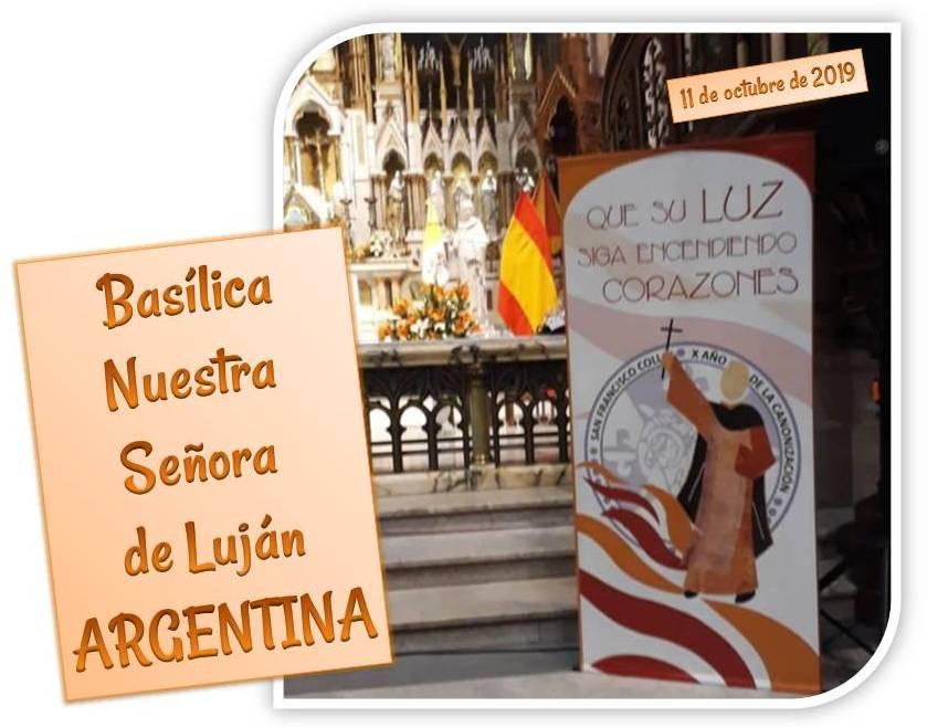 ENTRONIZACIÓN DE LA IMAGEN DE SAN FRANCISCO COLL EN ARGENTINA