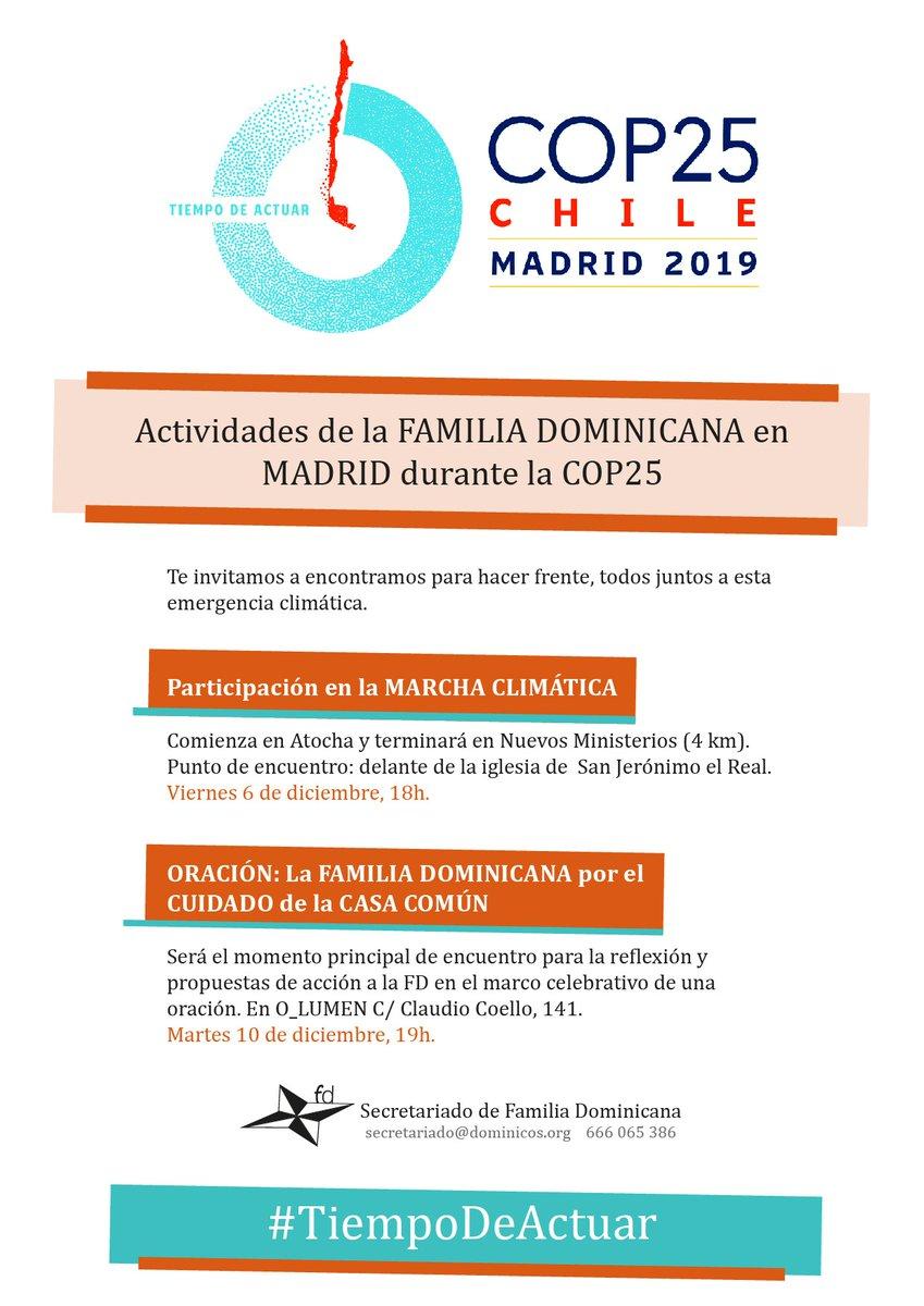 ACTIVIDADES DE LA F DOMINICANA EN MADRID DURANTE LA COP25