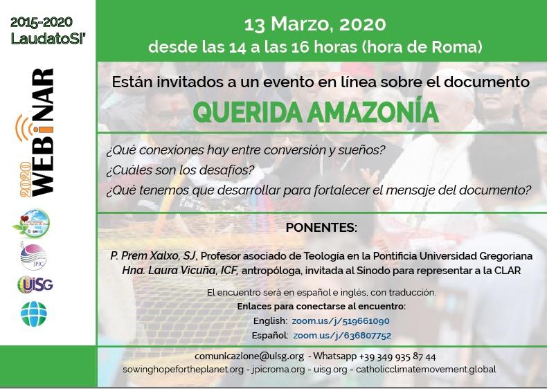 QUERIDA AMAZONÍA 13 DE MARZO