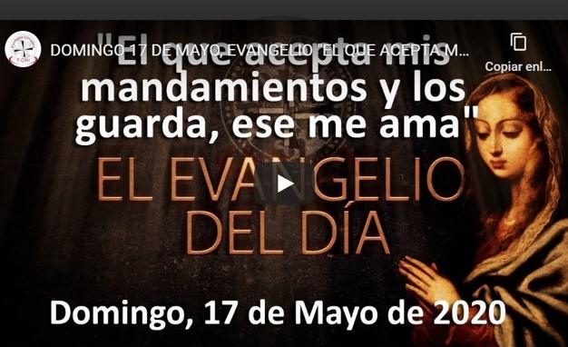 """DOMINGO 17 MAYO, EVANGELIO Y REFLEXIÓN """"EL QUE ACEPTA MIS MANDAMIENTOS Y LOS GUARDA, ESE ME AMA"""""""