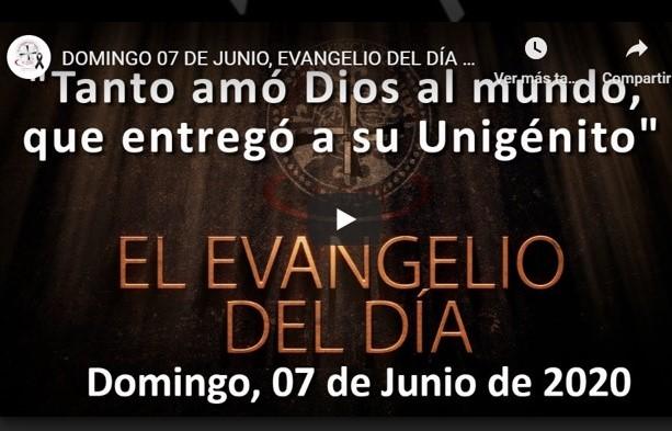 """DOMINGO 7 DE JUNIO, EVANGELIO Y REFLEXIÓN """"EL SEÑOR BAJÓ EN LA NUBE Y SE QUEDÓ CON MOISÉS"""""""