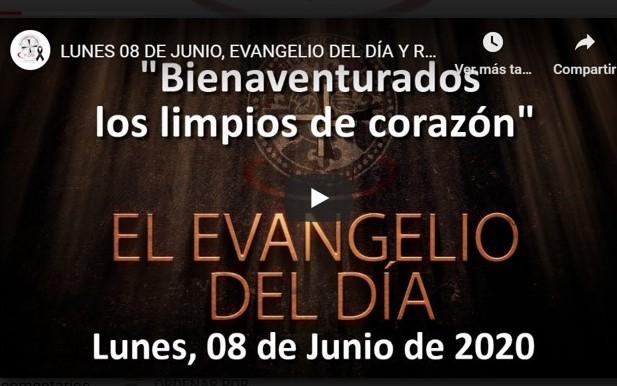 """LUNES 8 DE JUNIO, EVANGELIO Y REFLEXIÓN""""BIENAVENTURADOS LOS LIMPIOS DE CORAZÓN"""""""