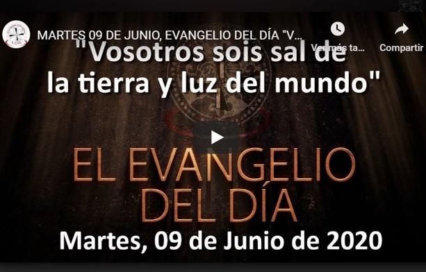 """MARTES 9 DE JUNIO, EVANGELIO Y REFLEXIÓN """"VOSOTROS SOIS SAL DE LA TIERRA Y LUZ DEL MUNDO"""""""