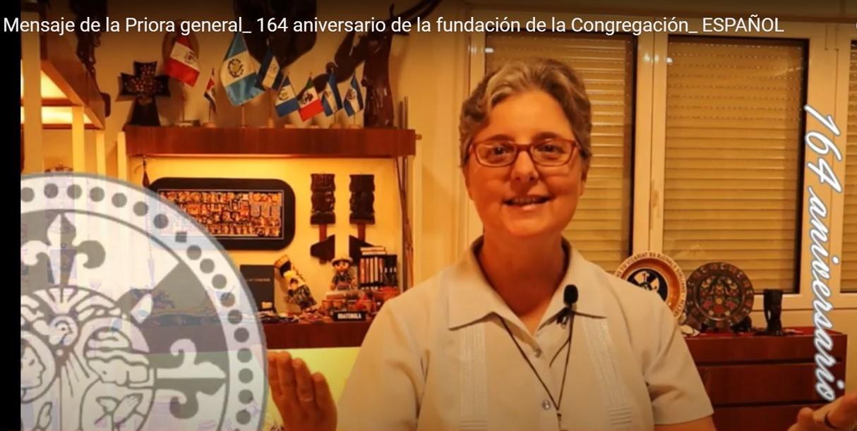 MENSAJE DE LA PRIORA GENERAL 164 ANIVERSARIO DE LA CONGREGACIÓN