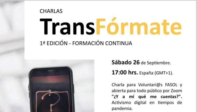 NOS VEMOS EN CHARLAS TRANSFORMATE