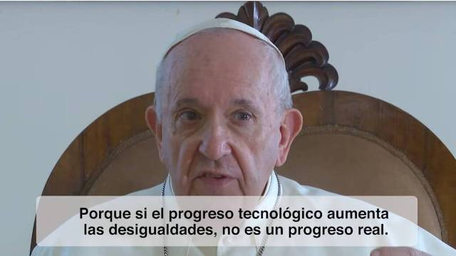 VIDEO DEL PAPA NOVIEMBRE DE 2020 LA INTELIGENCIA ARTIFICIAL