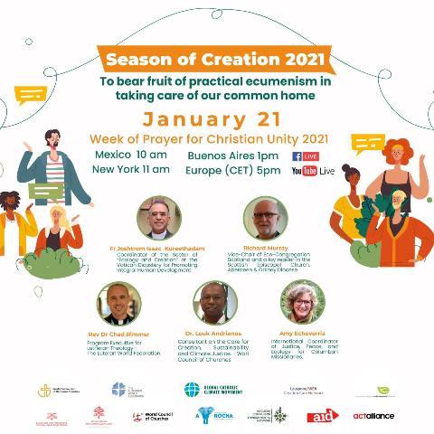 Seminario web del Tiempo de la Creación 2021