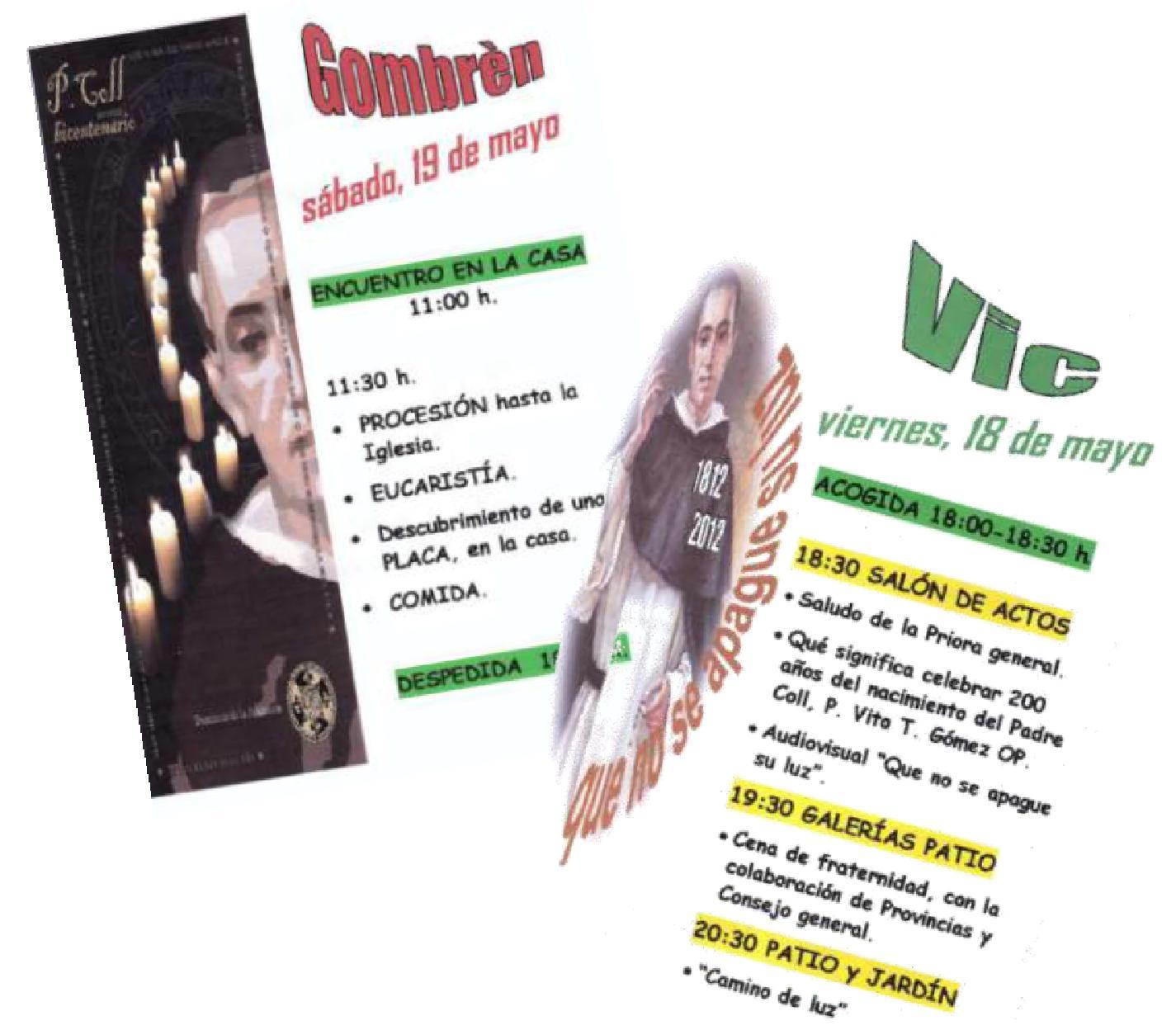 CELEBRACIÓN DEL BICENTENARIO EN VIC Y GOMBRÈN