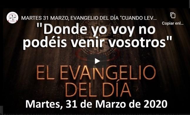Martes 31 de marzo, Evangelio y reflexión «Cuando levantéis al Hijo del Hombre sabréis que yo soy»