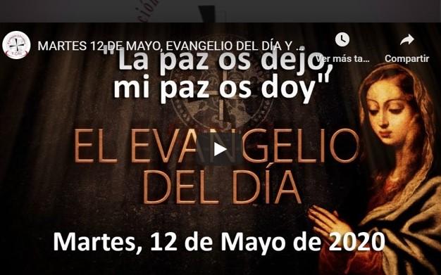 """MARTES 12 DE MAYO, EVANGELIO Y REFLEXIÓN """"LA PAZ OS DEJO MI PAZ OS DOY"""""""