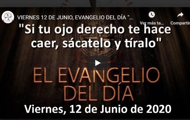 """VIERNES 12 DE JUNIO, EVANGELIO Y REFLEXIÓN """"SI TU OJO DERECHO TE HACE CAER, SÁCATELO Y TÍRALO"""""""