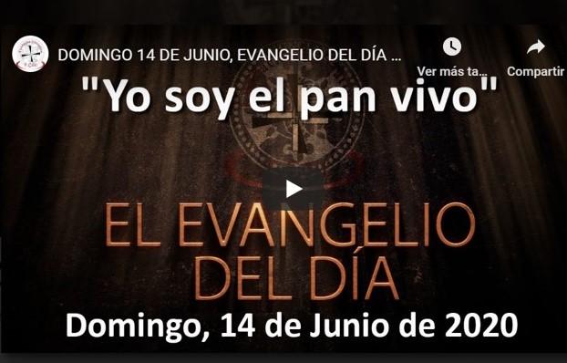 DOMINGO 14 DE JUNIO, EVANGELIO Y REFLEXIÓN «YO SOY EL PAN VIVO»