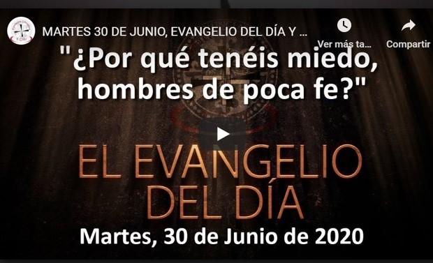 """MARTES 30 DE JUNIO, EVANGELIO Y REFLEXIÓN """"POR QUÉ TENÉIS MIEDO, HOMBRES DE POCA FE»"""