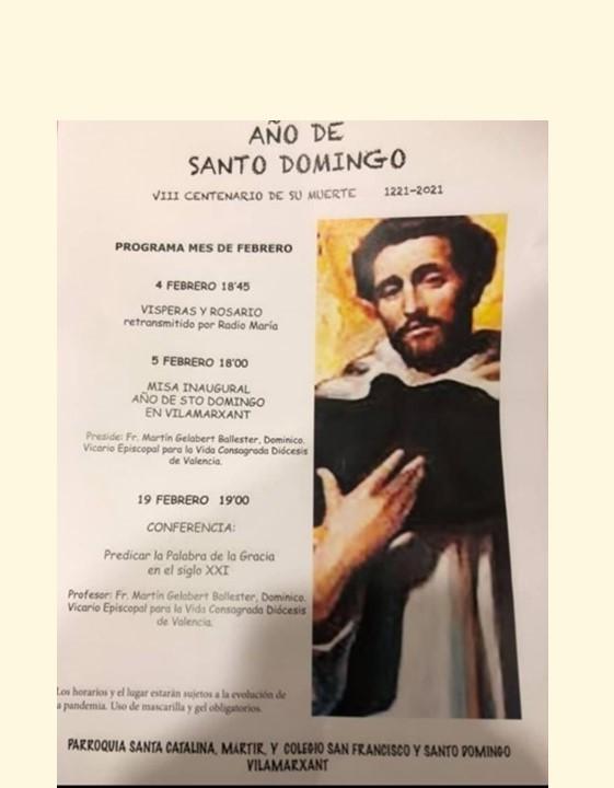 La parroquia de Vilamarxant (Valencia) se suma al Jubileo de Santo Domingo por su vinculación con las Dominicas de la Anunciata